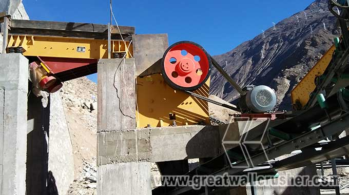 jaw crusher and cone crusher for stone crushing plant